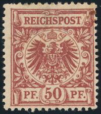 DR 1889, MiNr. 50 b, ungebraucht, Fotoattest Jäschke-L., Mi. 1400,-
