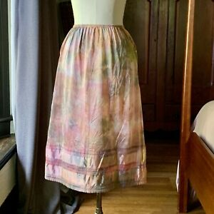DYED PETALS Vintage Botanically Hand Dyed Tie Dyed Slip Skirt 30/32