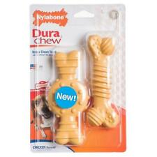Nylabone Twin Pack Chicken Dura chew Chicken Flavored Dog Toys NW303TPP BARGAIN