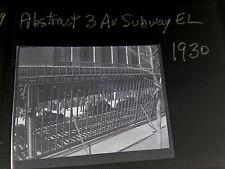 Orig 1930 Abstract 3 Av Subway El New York City NYC Photo Negative 2.5