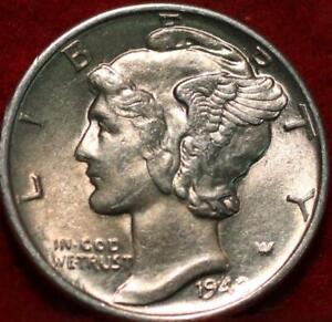 Uncirculated 1942  Philadelphia Mint Silver Mercury Dime