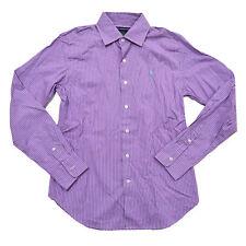 Polo Ralph Lauren Womens Buttondown Woven Long Sleeves Purple Stripes Prl New 6