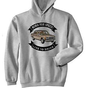 MERCEDES M123 BORN FOR SPEED - NEW  GREY HOODIE - ALL SIZES IN STOCK