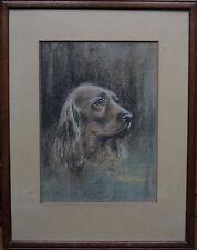 CHARLES TOWERS fl 1930 BRITISH ANIMAL ART DECO DOG PORTRAIT SPANIEL ART PAINTING