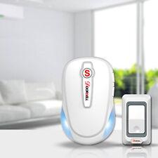 Cordless Chime, Sleek Design, Waterproof Door Bell, Wireless Doorbell, White, US