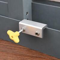 Sliding Door/Window Safety Lock Security Slide Stopper Adjustable For Kids S3H3