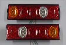 2x 12V LED FEUX ARRIERES CAMION REMORQUE PLATEAU CARAVANE FOURGON 5 FONCTION 74L