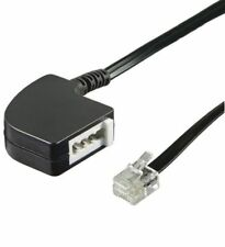 0,2m Telefon Festnetz Adapter RJ11 - TAE F Buchse analog auf RJ11 Stecker