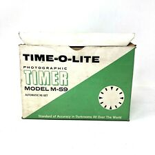 Time-O-Lite Model M-59 Industrial Master Made in the Usa 60-Sec Darkroom Timer