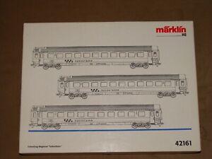 "New! Märklin HO Scale 42161 - Three passenger car set of the ""Südostbahn""  - NOS"