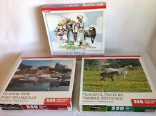 """Hoyle Product Jigsaw Puzzle Lot Norman Rockwell """"The Country Peddler"""" Plus MORE"""