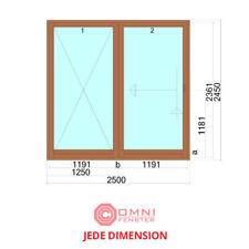 Fenster HOLZ Holzfenster 250 x 245cm Kiefer/Meranti TOP QUALITÄT!!!