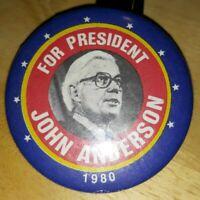 Rare Vintage Political Pin John Anderson President 1980 Button Republican PP26