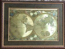 embellished nicolaes  visscher 17th century world map