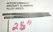 """(2) Hi-Per Aluminum Axles 5:40 thread Vintage 1960's Slot Car NOS  2 1/2"""" Long"""