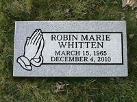 Granite Headstone Grave Marker 20 x 10 x 3 custom engraved 219.00 free shipping