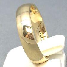 "STUNNING 9CT YELLOW GOLD UNISEX PLAIN ""WEDDING BAND"" RING SIZE ""Q""   1712"