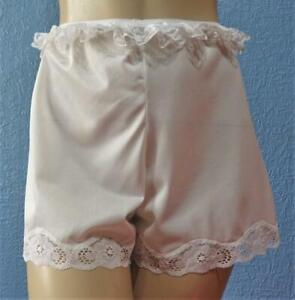 VINTAGE SILKY SHEER WHITE NYLON FRENCH KNICKERS PANTIES Lg