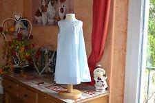 robe neuve cyrillus 18 mois bleu pale tres chic nouveaux liseret devant