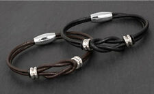 Mens Knotted Leather Bracelet from Equilibrium