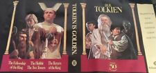 JRR Tolkien Is Golden Poster Rare Promotion of Lord Of The Rings 50 Anniversary