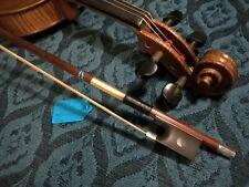 More details for big thanks promo pernambuco violin bow 4/4 #620 rnd ebony silver abalone frog