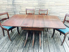 REDUCED PRICE Duncan Phyfe Mahogany Drop Leaf Triple Pedestal Dining Table Set