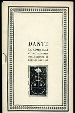 Dante - La Commedia -con le Xilografie dell'edizione di brescia del 1487- Fògola