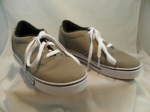 """Heelys """"Launch"""" 770157 Gray Canvas US Boys Size Youth 6 Excellent Nostalgia"""