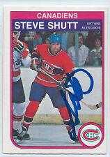 HOF Steve Shutt signed 1982-83 O-Pee-Chee hockey Montreal Canadiens autograph