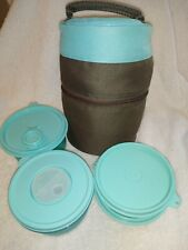 Tupperware Meal Solutions To Go Pack Insulated Lunch Bag 5 Piece Set Aqua New