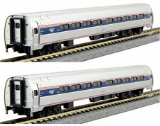 KATO 1068002 N Scale Amtrak Amfleet I Phase VI 2 Passenger Car Set A 106-8002