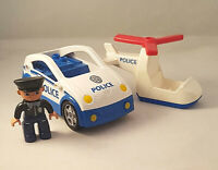 Lego Duplo Police Car and Helicopter Policeman Figure Bundle Joblot