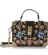 34530b73f77 Aldo Euronike New Handbag Black Box Bag Gemstones Gold Hardware Sparkle NWT