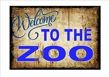 Vintage ZOO SIGNE style rétro signal métallique cuisine Plaque murale animal
