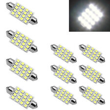 10X 41mm C5W 12V 16SMD White Car Interior Dome Festoon LED Light Bulb Lamp Power