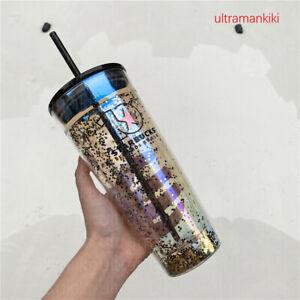 China Starbucks Rewards 10th Anniversary Glitter Double Wall Glass Tumbler 591Ml
