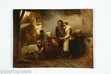 'The comforting' by Petrus Marius Molijn (signed)  (19th century oil on panel)