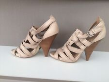 Buffalo London Pumps Abendschuh High-Heels Sandalen 37 Beige Braun Nude Neu