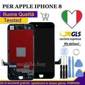 PER APPLE IPHONE 8 8G TOUCH SCREEN LCD DISPLAY RETINA SCHERMO + FRAME NERO