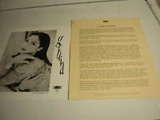 Gloria Estfan Press Kit Promo Photo 8X10 /W Bio 1994 Miami Sound Machine