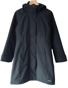 Merrell Ladies Black Jacket - Size Small - Waterproof Warm Hooded Coat Parka