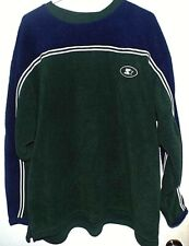Starter Fleece Sweatshirt Blue Green EUC Mens XL Vintage 1990s retro long sleeve