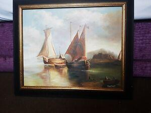 Antique Vintage Original Framed Oil Painting Signed