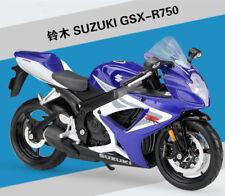 Maisto 1:12 Suzuki GSX-750R Motorcycle Bike Model Blue New