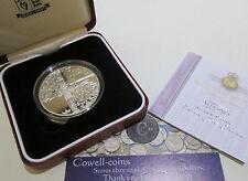 2002 ALDENEY £5 FIVE Pounds Silver Proof Crown Coin GOLDEN JUBILEE BOX/COA Cc1