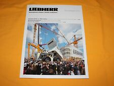 Liebherr Bauma 2013 Magazin Deutsch Prospekt Brochure Catalogue Prospetto