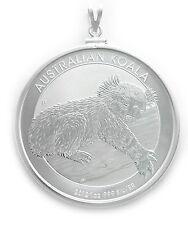 Sterling Silver Australian 1 oz Koala 2012 Coin Pendant