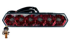 Rotes LED Rücklicht mit Nummernschildbeleuchtung Streetfighter Bobber Chopper