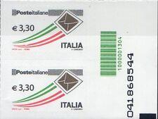2009 francobollo Posta Ordinaria da € 3.30 CON CODICE A BARRE 1304